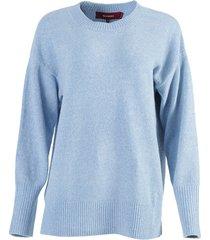 light blue nasim crew-neck sweater