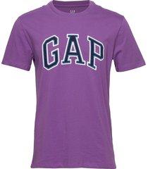 gap logo crewneck t-shirt t-shirts short-sleeved lila gap
