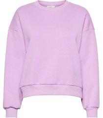 basic sweater sweat-shirt tröja lila gina tricot