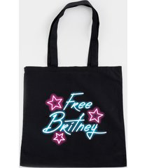 women's free britney star tote in black by francesca's - size: one size