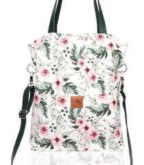 duża wiosenna torba w piękny kwiatowy wzór