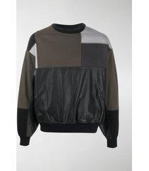gr-uniforma short patchwork sweatshirt