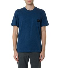 calvin klein basic t-shirt with logo patch