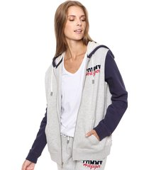 buzo gris tommy hilfiger sapphire hooded top ls
