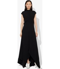 proenza schouler crepe mock neck dress black 2