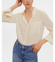 mango silk blouse