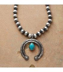sterling teardrop naja necklace