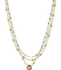 women's ela rae lina semiprecious stone multistrand necklace