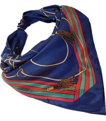 pañuelo azul nuevas historias estampa cuerdas ba1315-48