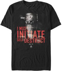 fifth sun star wars the mandalorian ig-11 self-destruct overlay short sleeve men's t-shirt