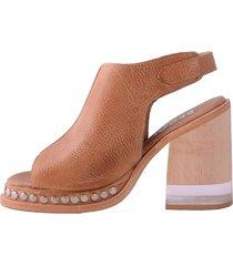 sandalia de cuero suela becca shoes caita