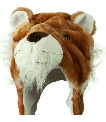 cute lion winter fluffy plush warm cap hat long arms & mittens scarf gift beanie