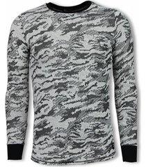 uniplay army look shirt zwart