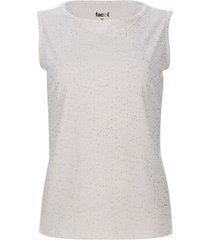 top con glitter color blanco, talla m