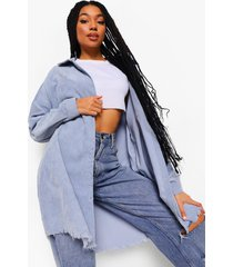 oversized corduroy blouse, blue