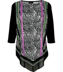 shirt m. collection zwart::paars::groen