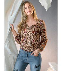 blouse amy vermont bruin::beige