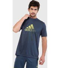 camiseta azul navy-amarillo adidas performance designed 2