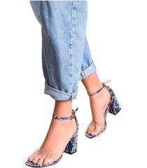 sandalia tacon fenty mercedes campuzano-estampado azul