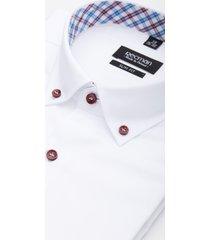 koszula bexley 1897 krótki rękaw slim fit biały