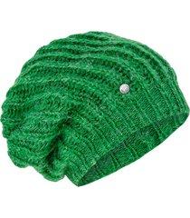 miękka czapka ze ściągaczem zielona