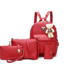 mochila de mujer/ mochila para mujer mochilas escolares-rojo
