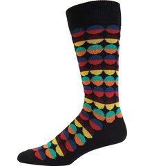 paul smith men's geometric crew socks - black multi