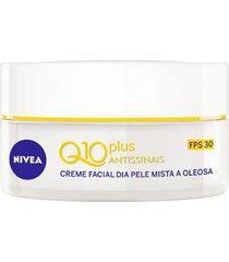 creme facial antissinais dia nivea - q10 plus fps30 52g