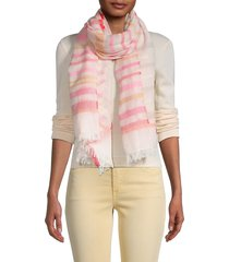 saachi women's sicily striped woven scarf - pink