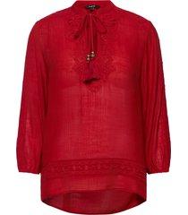 blus anuska blouse lange mouwen rood desigual