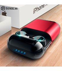 audifonos manos libres bluetooth tws inalámbrico auriculares-rojo