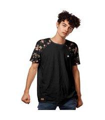camiseta t-shirt raglan floral summer 2020