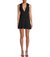 women's biron v-neck dress - black - size 34 (2)
