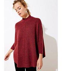 loft mock neck poncho sweater