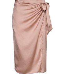 viakvaralla tie wrap rw skirt/ka knälång kjol rosa vila