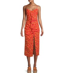 likely women's sallie slip dress - red yellow multicolor - size 2
