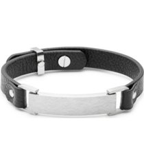 men's slim adjustable id bracelet