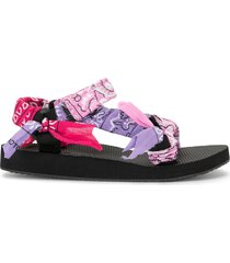 arizona love trekky bandana flat sandals - black