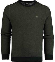 hugo boss akustor casual pullover groen 50414774/346