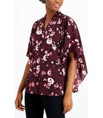alfani pleated cape-sleeve top, created for macy's