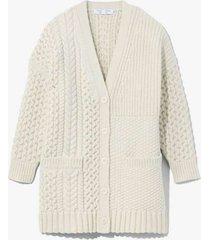 patchwork knit cardigan