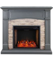 southern enterprises chartier alexa-enabled electric fireplace with media shelf