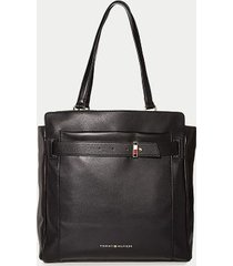 tommy hilfiger women's classic solid tote black -