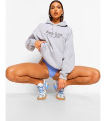 lost love barbed wire boyfriend hoodie, grey marl