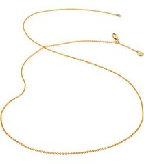 """fine chain 24"""" with adjuster, gold vermeil on silver"""