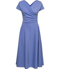 anis ecovero dress knälång klänning blå residus