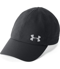 gorra under armour fly-by para mujer-negro