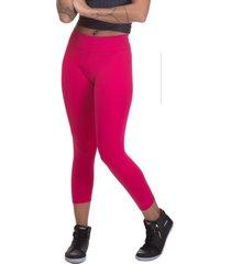 calça legging miss blessed capri suplex rosa