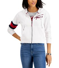 tommy jeans signature zip-up hoodie