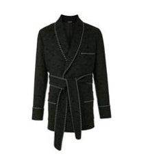 dolce & gabbana casaco estilo kimono - preto